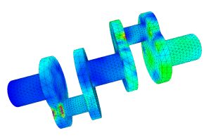 Linear Elasticity with FEM in 3D (in house developed software -- SimCloud-Project)